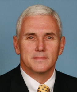 Mike Pence's official portrait for the 111th Congress, 2008 or 2009. Source: Wikimedia, Creative Commons License.