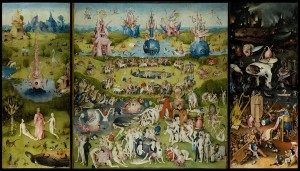 The Garden fo Earthly Delights (c.1495-1505) by Hieronymus Bosch. Public Domain.
