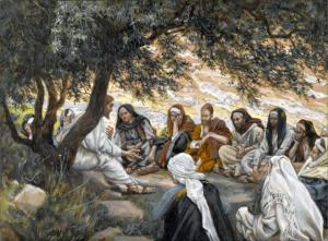 The Exhortation to the Apostles (1886-1894) by James Tissot. Public Domain.