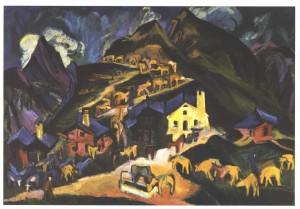 Alpauftrieb by Ernst Ludwig Kirchner. Public Domain.