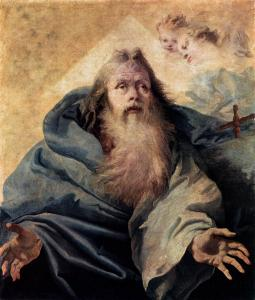 God the Father (second half of the eighteenth century) by Giovanni Domenico Tiepolo. Public Domain.