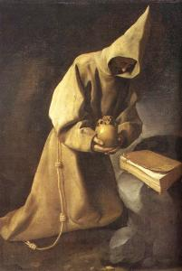 Meditation of St. Francis (1632) by Francisco de Zurbarán