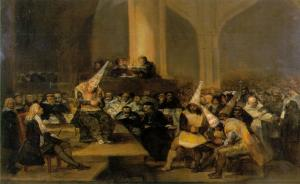 Inquisition Scene (1812-1819) by Francisco Goya. Public Domain.