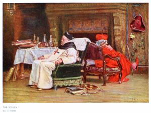 The Schism (before 1902) by Jehan Georges Vibert. Public Domain.