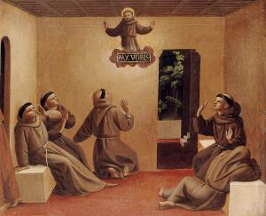 Apparition of St. Francis at Arles (c. 1429) by Fra Angelico. Public Domain.