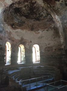"""The """"bishops"""" seating area in the church of Nicea."""