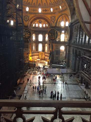 Hagia Sophia, a once famous church in Constantinople.