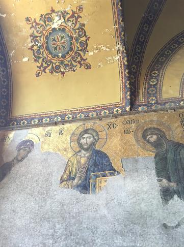A gorgeous fresco of Christ.