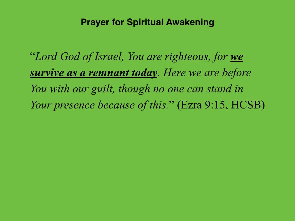Ezra 9:1-15 Preparing for a Spiritual Awakening | Jim Erwin