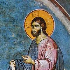 Detail of fresco by Manuel Panselinos, Wikimedia Commons