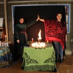 Erin and Michi, two of the priestesses for this year's Imbolc circle