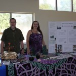 representing Paganism at an interfaith exhibit, with Michi Harper