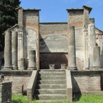 the Temple of Isis at Pompeii - an Egyptian goddess worshipped in Italy