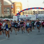 the start of the 2003 Dallas White Rock Marathon