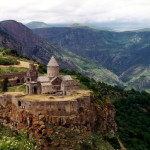 Tatev Monastery in Armenia.  Photo via Wikimedia Commons.