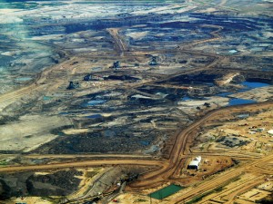 the Alberta Tar Sands – picture via Wikimedia Commons
