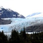 Mendenhall Glacier, Juneau, Alaska, 2011. If you want to see it, go now before it melts.