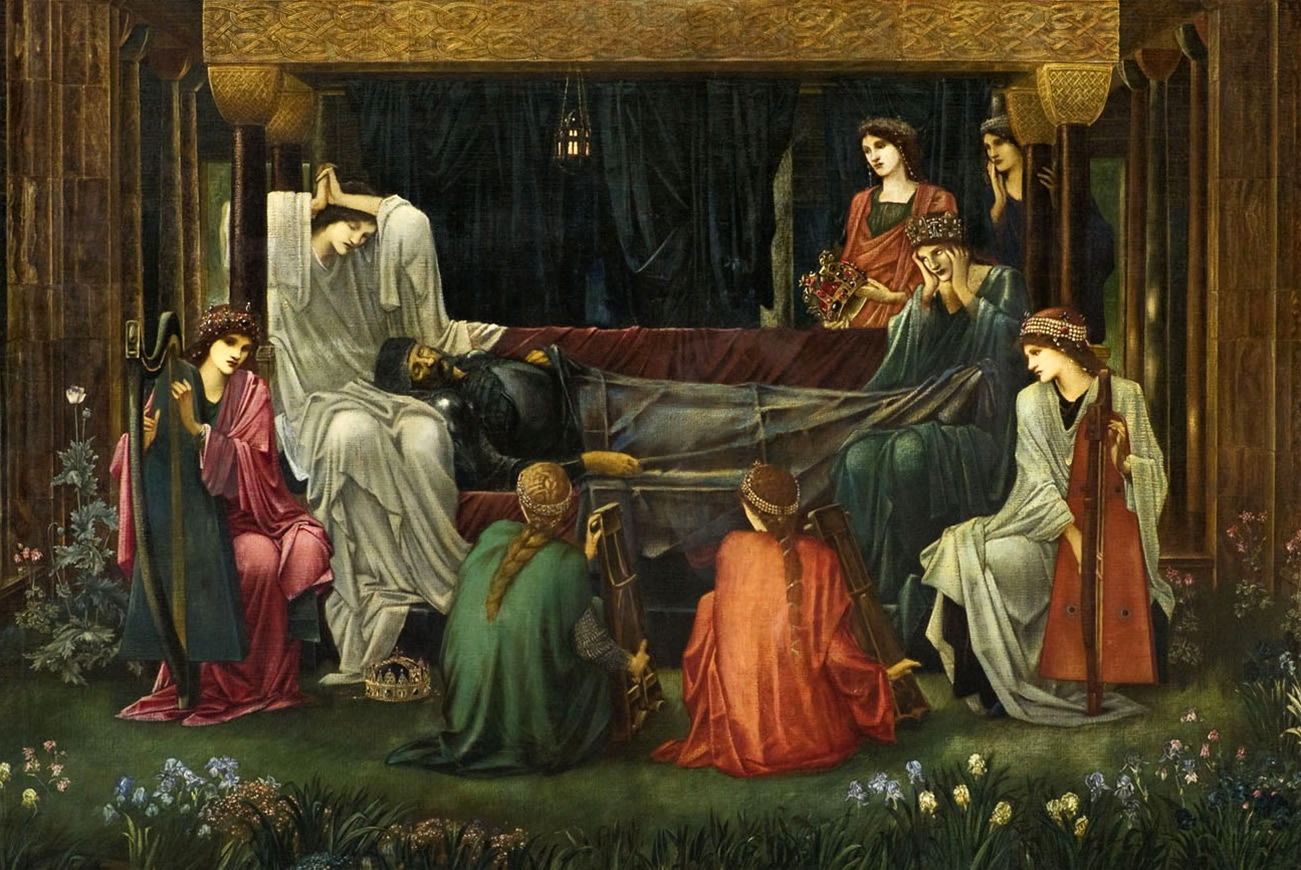 The Last Sleep of Arthur in Avalon by Edward Burne-Jones, 1898