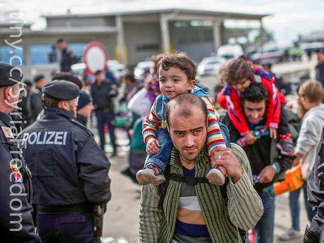 Syrian refugees in Hungary – 2015 – photo via Freedom House