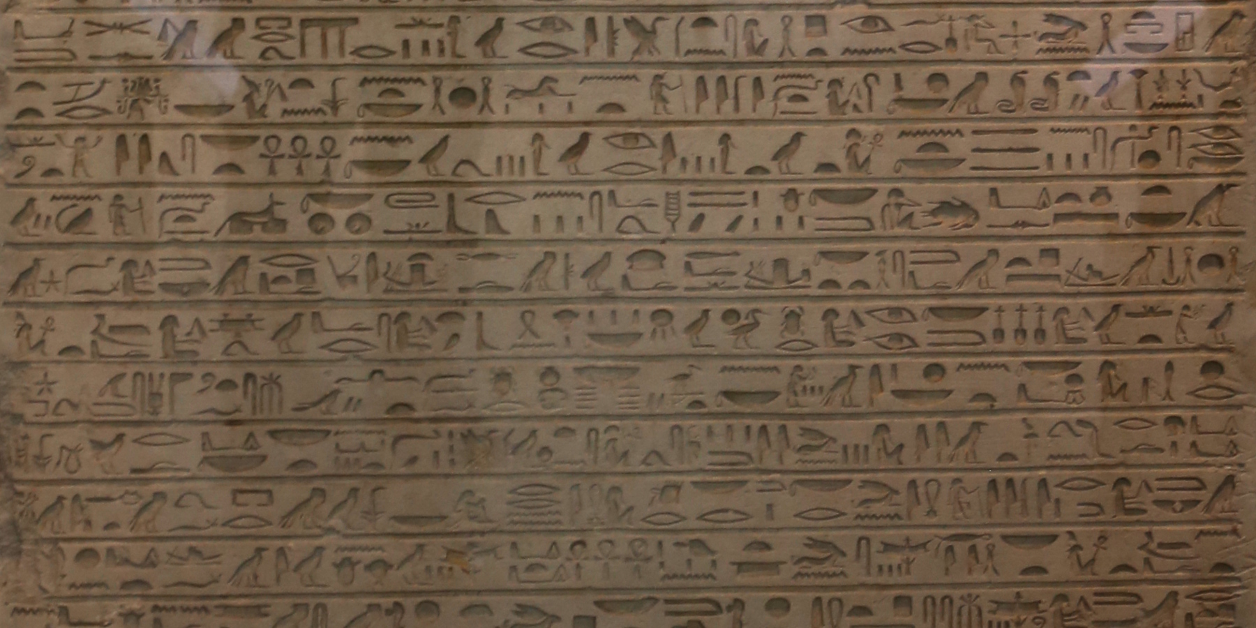 hieroglyphs in British Museum 2016