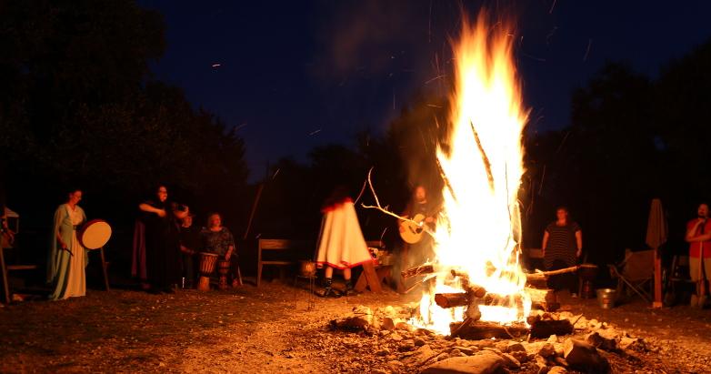 the main ritual at the 2017 ADF Texas Imbolc Retreat