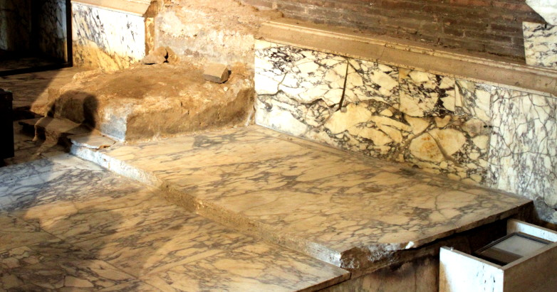 The place of Caesar's throne in the Roman Curia. It is empty. May it ever be so.