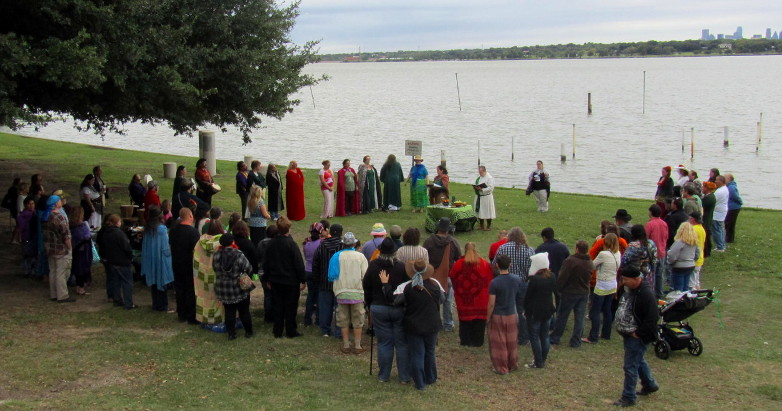 the Cernunnos Ritual at the 2013 DFW Pagan Pride Day
