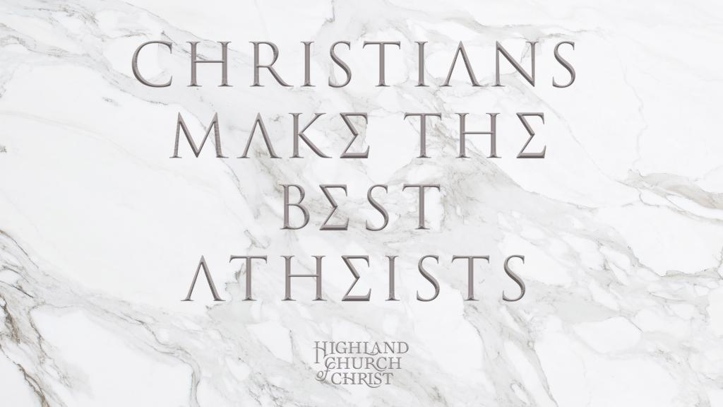 christians make the best atheists screen