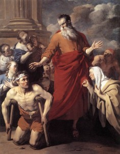 "Karel Dujardin, ""St Paul Healing the Cripple at Lystra""; 1663 Oil on canvas."
