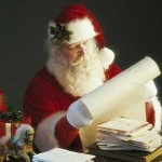 Santa editing his list