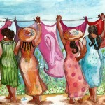 Church Lady Clothesline by Janie McGee