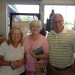 World-travelers Sherri, Rhonda and Larry took time from their busy days to come hug my neck.