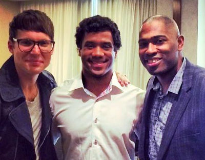 Photo of Russell Wilson & his friend  Judah Smith -