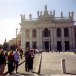 The Schiffers in front of the Basilica of St. John Lateran, September 2000