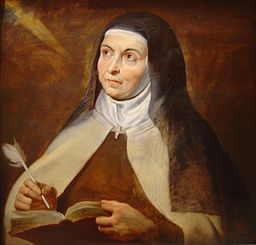 ST. TERESA OF AVILA by Peter Paul Rubens [GFDL (http://www.gnu.org/copyleft/fdl.html), CC-BY-SA-3.0 (http://creativecommons.org/licenses/by-sa/3.0/), CC BY-SA 2.0 (http://creativecommons.org/licenses/by-sa/2.0) or CC BY-SA 2.0 fr (http://creativecommons.org/licenses/by-sa/2.0/fr/deed.en)], via Wikimedia Commons