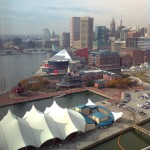 View from my hotel window of Baltimore's scenic Inner Harbor