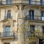 The Lighthouse Angel, spanning three stories of a bourgeois apartment residence erected in 1860