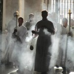 St. Peters Basilica - French entering w incense 4-29-13