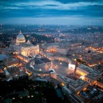 Vatican at nightfall