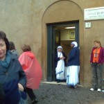 Missionary Sisters of Charity welcome pilgrims and the needy to one of their helping centers