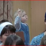 Toddler with choir