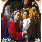 The Holy Family featured on the icon for the World Meeting of Families includes Jesus' grandparents, Joachim and Anna