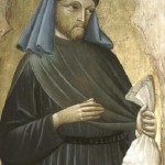"Saint Homobonus, Patron of Businesspeople and Tailors.  His Name Means ""Good Guy"""