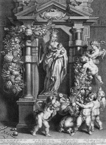 MARY, QUEEN OF HEAVEN by Cornelis Galle (I) [fusion_builder_container hundred_percent=