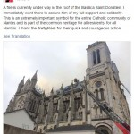 So Sad! Fire Destroys Historic French Basilica in Nantes