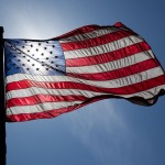 US Flag - backlit