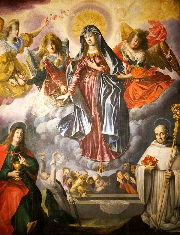 THE ASSUMPTION OF MARY Bartholomäus Strobel [Public domain], via Wikimedia Commons