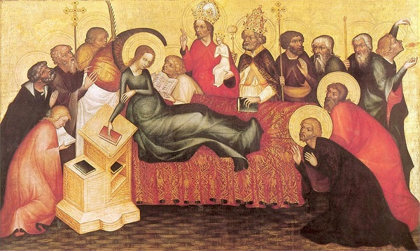 DORMITION OF MARY By Masters of Grudziądz Polyptych [Public domain], via Wikimedia Commons