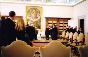 Vatican - JPII greeting pilgrims