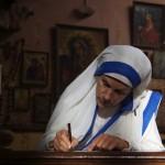 Mother Teresa writing letter